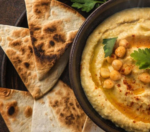 Hummus with tortilla bread
